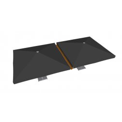Canalón de lluvia de PVC 400 cm Gris Pardo