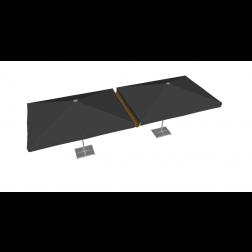 Canalón de lluvia de PVC 300 cm Gris Pardo