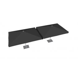 Canalón de lluvia de PVC 300 cm Negro