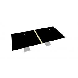 Canalón de lluvia de PVC 330 cm Natural