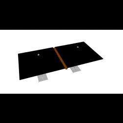Canalón de lluvia de PVC 330 cm Gris Pardo
