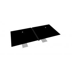Canalón de lluvia de PVC 330 cm Negro